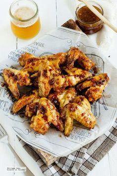 Alitas picantes de pollo en adobo. Receta