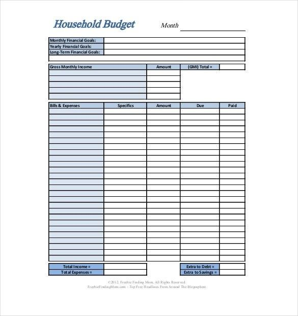 Financial Budget Template Pdf Seven Moments To Remember From Financial Budget Templa Household Budget Template Personal Budget Template Family Budget Template