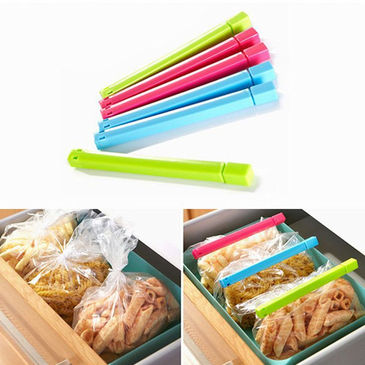 6 Pcs/Lot Stable Food Snack Bag Clip Fresh Keeping Sealing Clips Seal Clamp Sealer Strong Kitchen Storage Helper Food Savers