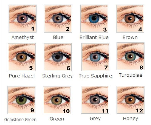 3 tone Colorful contact lenses