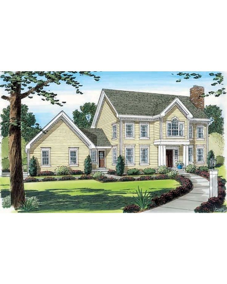 AmazingPlanscom House Plan 24753 Colonial Traditional