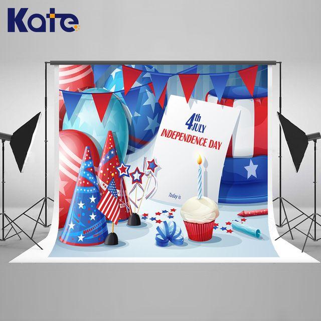 Kate 8x10ft nouveau-né photographie fond drapeau américain l'indépendance jour décors bleu balloom pour enfants photographie shoot