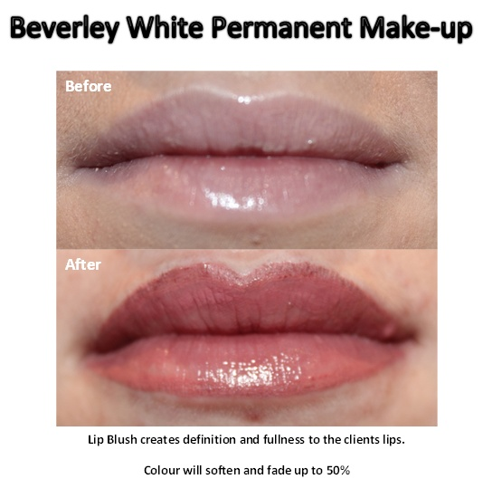 Beverley white permanent make up natural lip blush colour for Lip tattoo fade