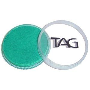 TAG Face Paints - Pearl Green (32 gm) by TAG Body Art. $7.65. TAG Face Paint is very easy to blend, soft on the skin and does not crack or peel.. Great for line work. TAG face paint is hypoallergenic and made with non-toxic, skin safe ingredients.. Each 32 gram TAG Face Paint Container is good for 50-200 applications.. TAG Pearl Face Paint is a little softer than TAGs regular paints and contain Mica for a metallic sheen. TAG Pearl Face Paint does not contain any metal.. TAG Pea...