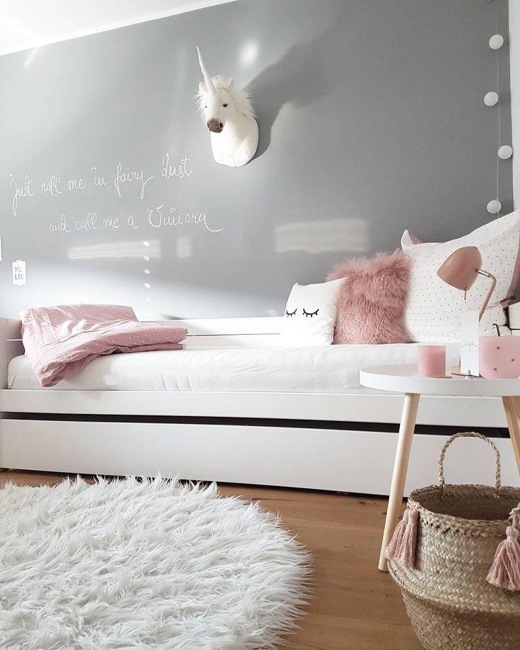 Die Farbkombination aus Grau, Weiß und Pink ist die perfekte Wahl für Kinder …