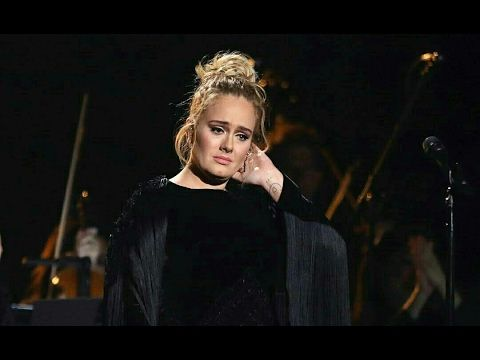 Pin #2 This a picture of Adele performing at the 2017 Grammys. She performed one of her hit singles and everything was amazing. She then had a tribute to George Micheal in which she sang one of his songs. She started the song okay but felt the need to stop and start over
