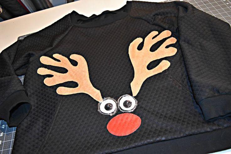 DIY Reindeer Sweatshirt Tutorial