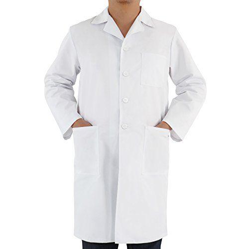 Jago – Blouse blanche de laboratoire unisexe – résistant aux acides et aux bases – 3 poches – Taille L – TAILLE AU CHOIX: Price:16.95Ce…