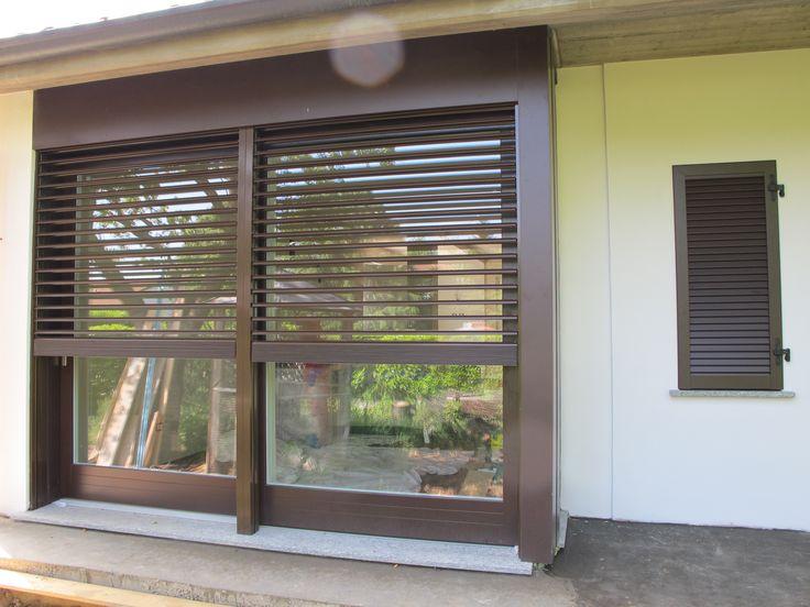 Alzante scorrevole con frangisole serramenti windows for Altainfissi