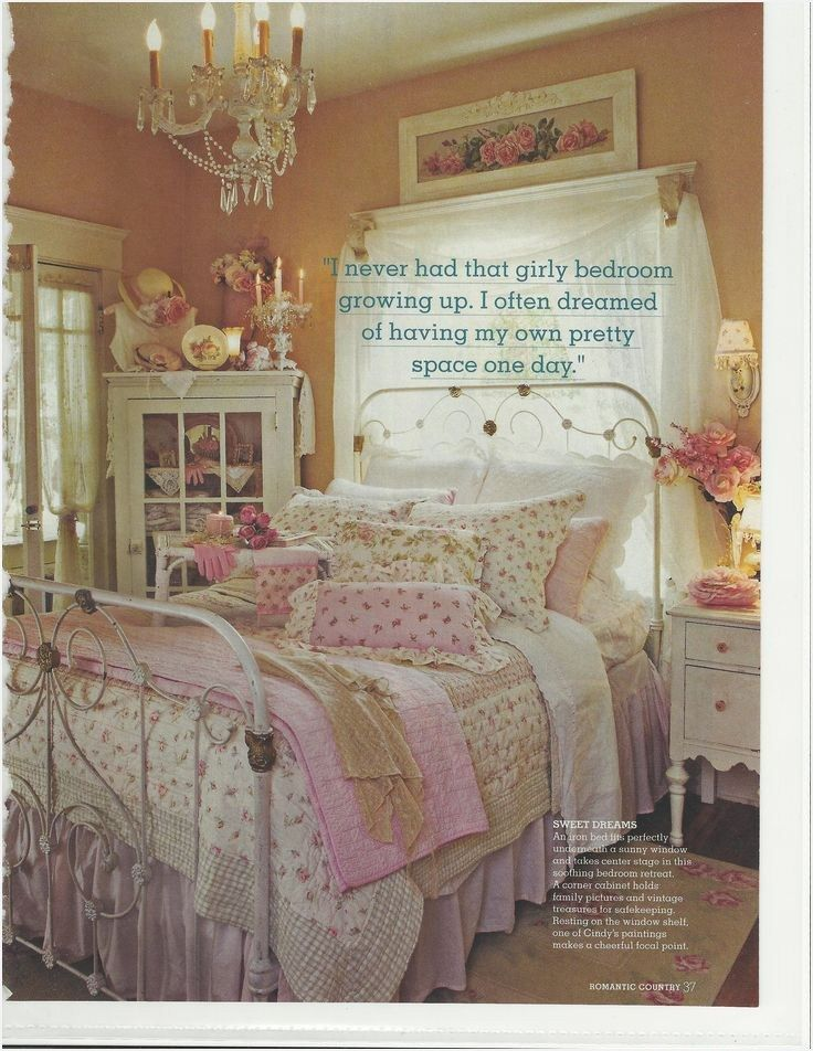 45 Amazing Romantic Country Bedroom Decorating Ideas | Stunning ...
