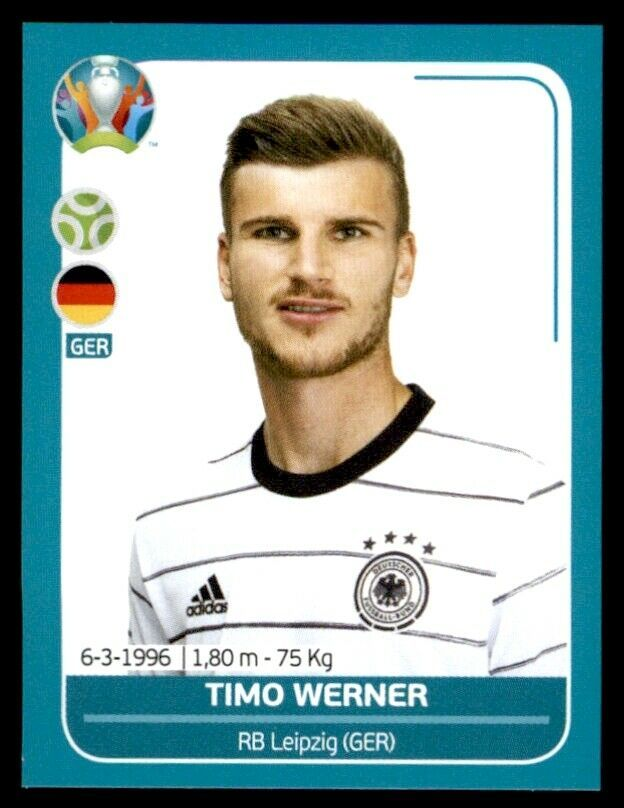 Panini Uefa Euro 2020 Preview Timo Werner Germany No Ger28 Fussball