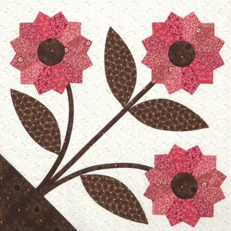 Dainty Dresdens quilt block designed by Erin Russek for Quiltmaker's 100 Blocks Volume 12