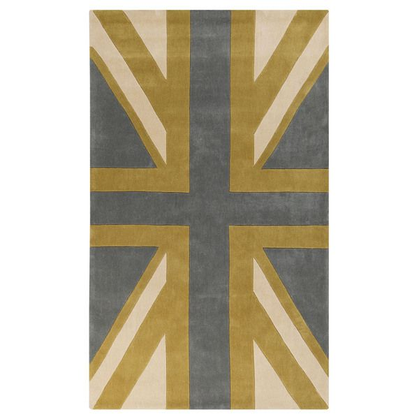 Hand-tufted Union Jack Novelty Contemporary Area Rug (5' x 8')