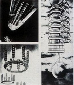 57, krutikov, space city of future, 1928