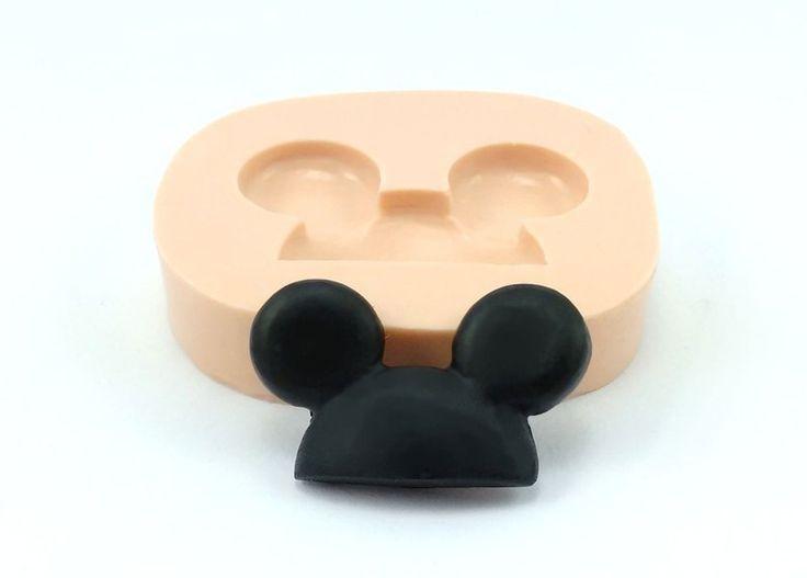 Molde de silicone Orelha de Mickey, Sueli Ribas - Sueli Ribas