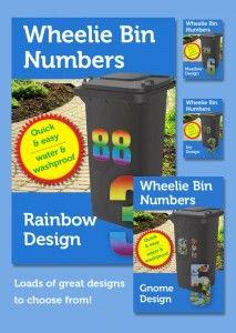 Wheelie Bin Numbers Stickers