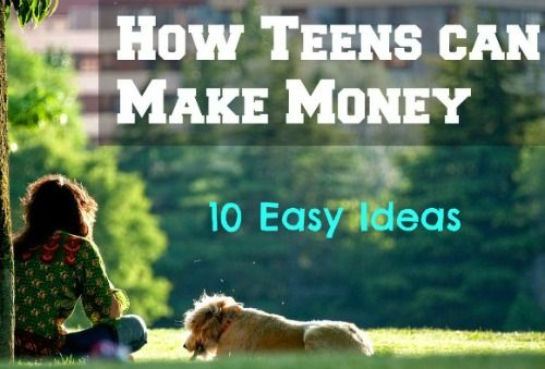 10 easy ways: How #teens can make money with little to no start-up costs   #makemoney #moneymakingideas