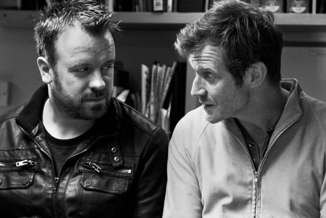 Jason Flemyng and Simon Phillips in Jack Falls