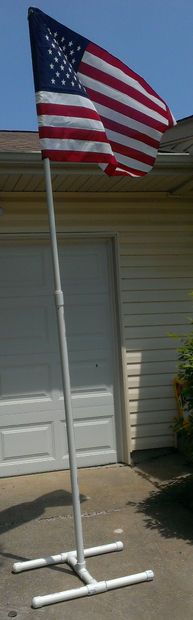 How to build a portable PVC Flagpole.