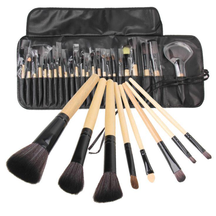 24Pcs Makeup Brushes Cosmetic Tool Kits Professional Eyeshadow Powder Eyeliner Contour Brush Set with Case bag pincel maquiagem