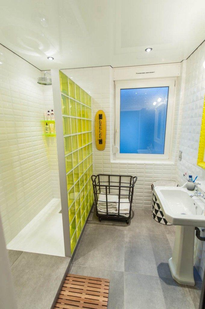 Salle de bain Punky B blog http://www.m-habitat.fr/par-pieces/sanitaires/idees-deco-et-amenagements-pour-une-salle-de-bains-2682_A