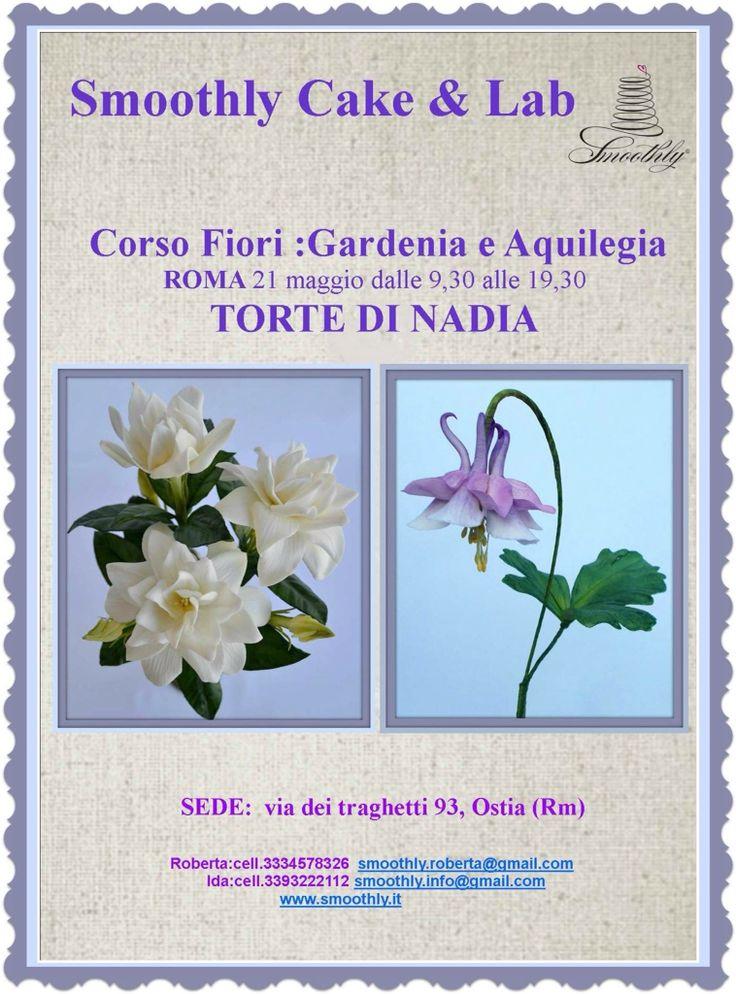 Corso fiori realistici con la bravissima Nadia alla scuola di smoothly