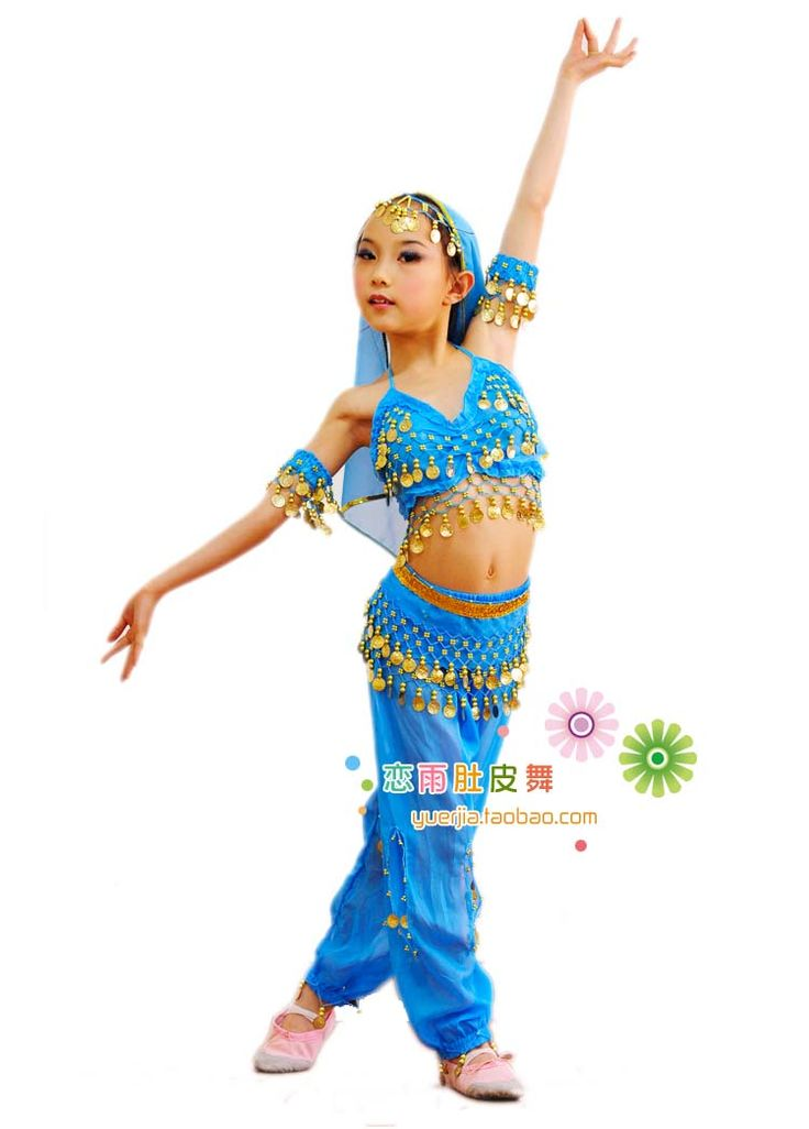Aliexpress.com : Buy belly dancing costumes for kids Child indian dance clothes performance wear bloomers set 6 pcs top belt pant veil bracelets from Reliable dance costume wear suppliers on ILM fashion Co., Ltd..
