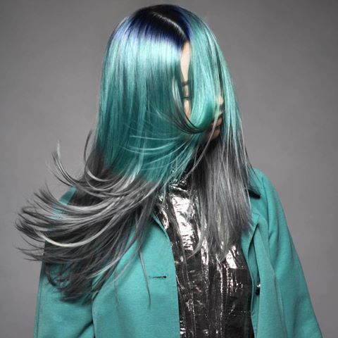 PRAVANA COLORING INSPIRATION     Her formula :   Pravana Vivids Blue + Pravana Locked In Teal + Pravana Vivids Silver     Stretch beyond limits!! Make your dream hair come to true