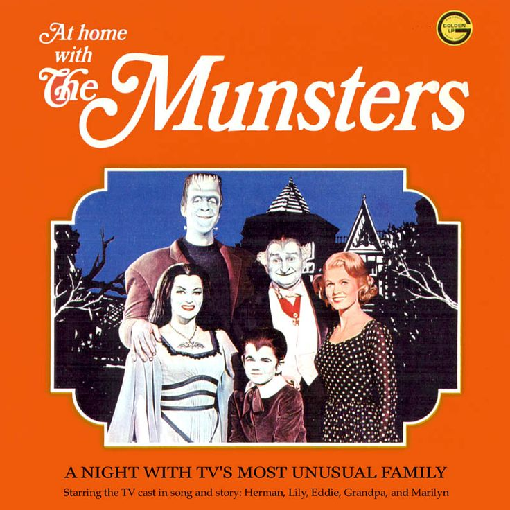 Munsters cast album - At Home with the Munsters - includes the TV theme vocal version