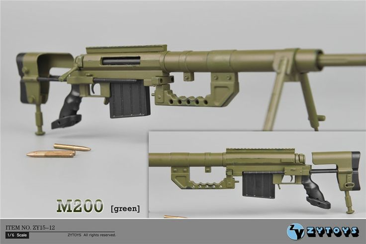 """26.06$  Watch more here - http://ait1c.worlditems.win/all/product.php?id=32539252723 - """"ZYTOYS 1:6 Scale Green CheyTac Intervention M-200 Sniper Rifle Weapon Model Toys ZY15-12 for 12"""""""" Action Figure Accessories"""""""