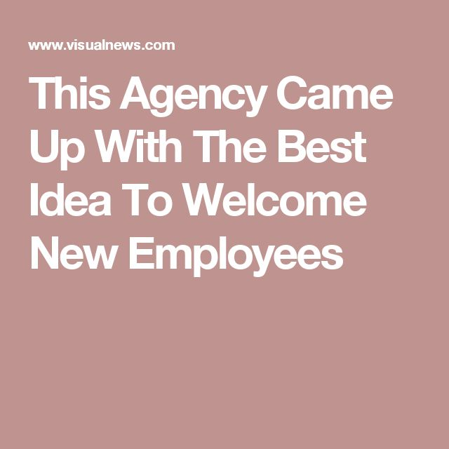 This Agency Came Up With The Best Idea To Welcome New Employees