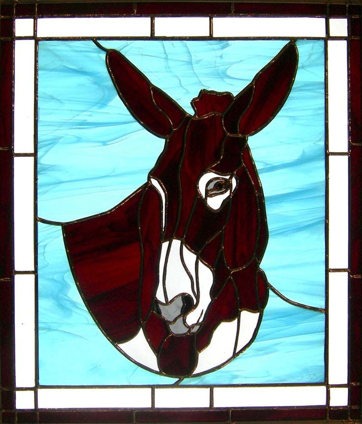 17 Best Images About Animals Horses Stained Glass On