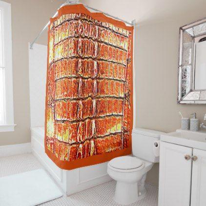 Vintage Hornback Alligator Florida Orange Shower Curtain Shower Curtains Home Decor Custom Idea