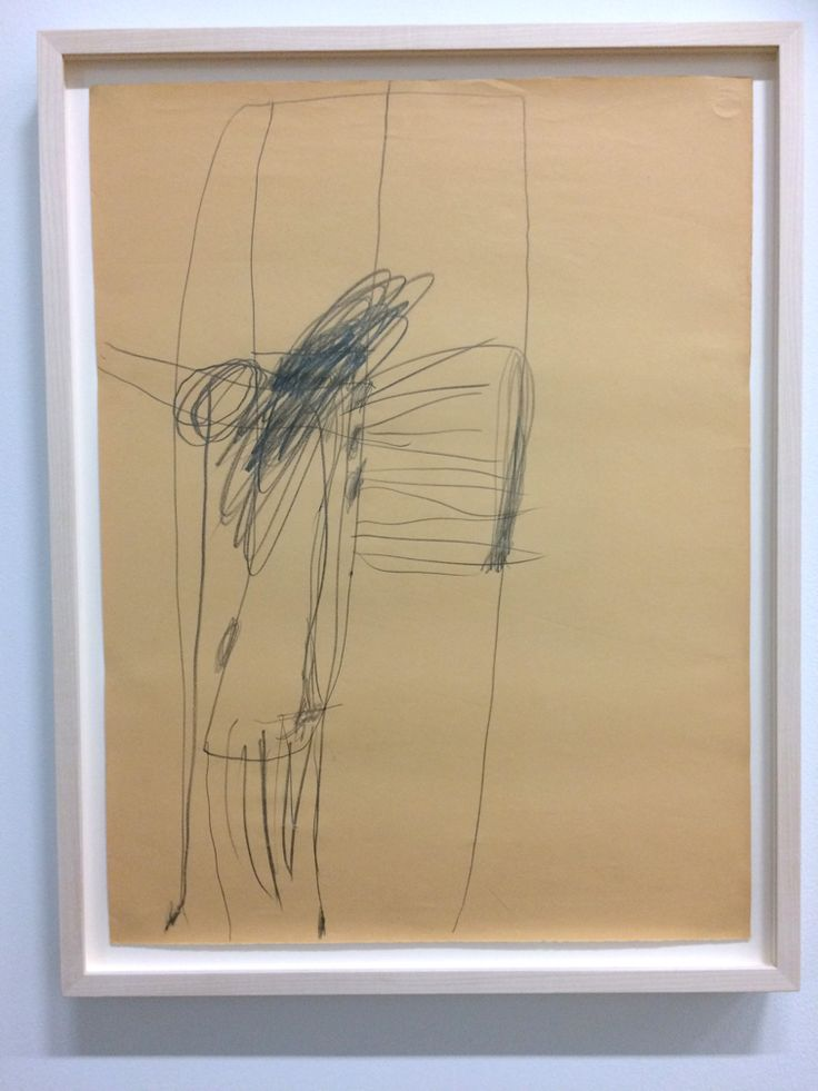 Cy Twombly, Untitled (Augusta, Georgia), 1954, pencil on paper. Cy Twombly Foundation.