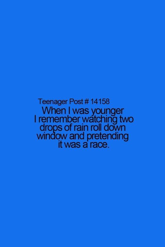 Teenager Post And in your head you silently narrate the race, and there's always that one that you really wanted to win. Am I alone in this?