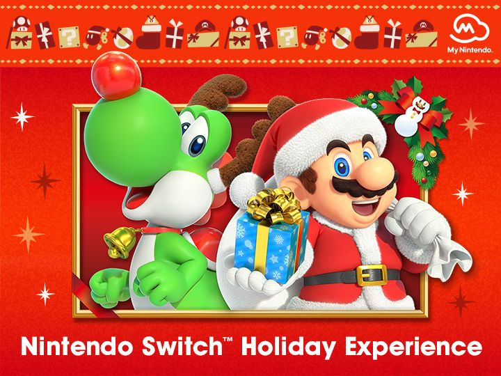 Nintendo Switch Holiday Experience Gives Fans A Chance To Try Games And Score A Free Gift Nintendo Mario And Princess Peach Mario Yoshi