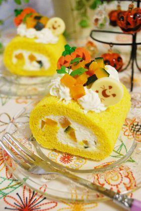 「【ハロウィン】かぼちゃのロールケーキ」ayaka | お菓子・パンのレシピや作り方【corecle*コレクル】