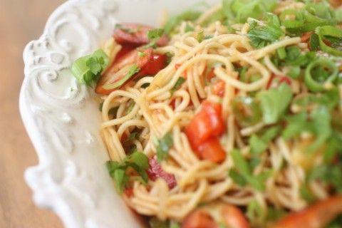 Noodle Salad  http://www.nourishmagazine.co.nz/10/noddle-salad/