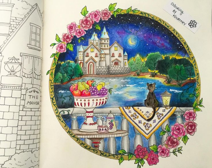 Amazon Romantic Country A Fantasy Coloring Book I Wish Cocot Was Real By Customer On Mar 03 2016 New Favorite The Paper Is Amazing