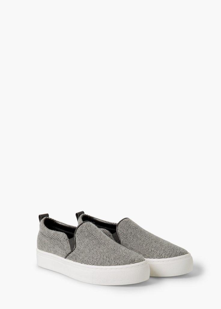 Herringbone pattern sneakers