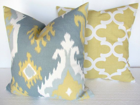Yellow And Grey Throw Pillow Covers : 17+ ideas about Grey Pillow Covers on Pinterest Yellow pillows, Yellow pillow covers and Grey ...