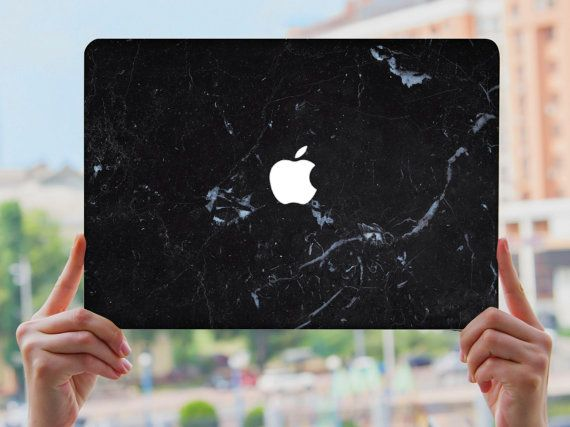 MacBook Air 13 Hard Case Plastic Dark Blue Marble Royal Luxury View Design Case…