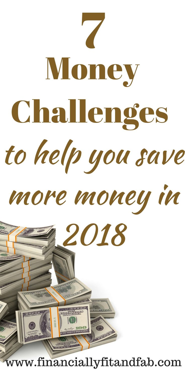 7 Money Challenges to help you save more money in 2018 | Money Challenge | Save money | 52-week challenge | $5000 money challenge | $10000 money challenge | Money management | Budgeting | Money challenges for millennials