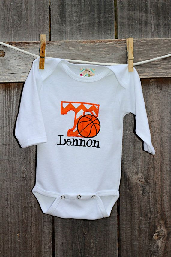 Personalized University of Tennessee Basketball Onesie or T-shirt: Long sleeve