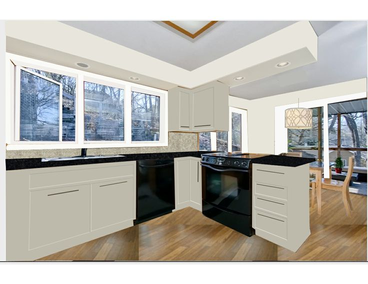 White kitchen with black appliances black kitchen for Black kitchen cabinets with white appliances