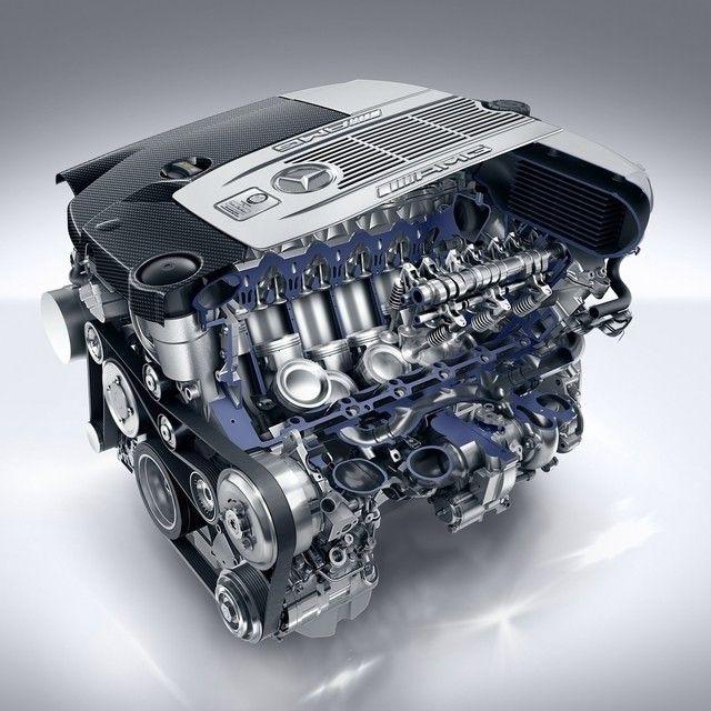 Mercedes Benz AMG V-12 engine