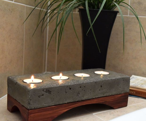 Concrete Candle Holder // All steps given as well as video