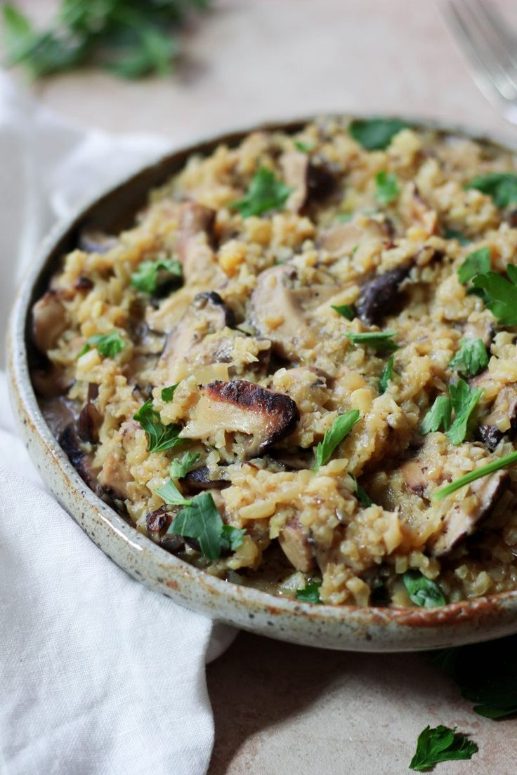 Instant Pot Paleo Cauliflower Mushroom Risotto