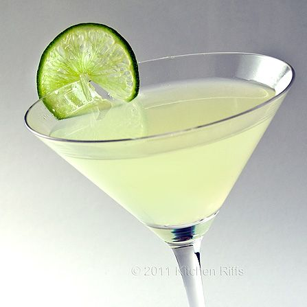 Classic daiquiri-just rum, lime juice, and simple syrup. Yum.