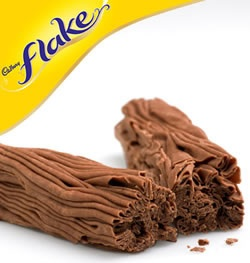 Cadbury Flake. Ladies Be THANKFUL that this delish candy bar is not readily available in the U.S. *sigh*